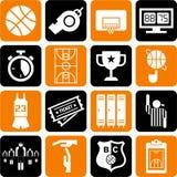 Icone di pallacanestro royalty illustrazione gratis