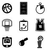 Icone di pallacanestro Fotografia Stock Libera da Diritti