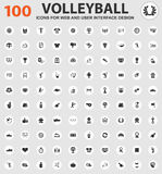 Icone di pallavolo messe Fotografie Stock