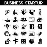 Icone di partenza di affari Immagine Stock Libera da Diritti
