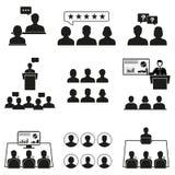 Icone di Peole messe La gente dell'ufficio su un fondo bianco Fotografie Stock