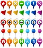 Icone di percorso & del programma di GPS royalty illustrazione gratis