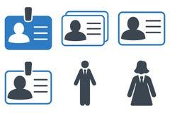 Icone di Person Account Card Flat Vector Immagine Stock Libera da Diritti
