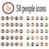 Icone di 50 persone Immagini Stock