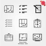 Icone di pianificazione Immagini Stock