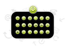 Icone di plastica verdi - vettore Immagine Stock