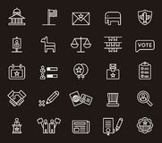 Icone di politica degli Stati Uniti Fotografia Stock Libera da Diritti