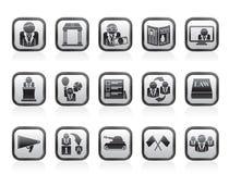 Icone di politica, di elezione e del partito politico Immagini Stock Libere da Diritti