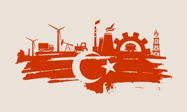 Icone di potere e di energia messe Colpo della spazzola Fotografie Stock Libere da Diritti