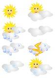 Icone di previsioni del tempo royalty illustrazione gratis