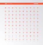 Icone di produzione di codice di UI UX royalty illustrazione gratis