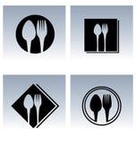 Icone di progettazione del ristorante Fotografia Stock