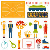 Icone di progettazione di pallacanestro illustrazione vettoriale