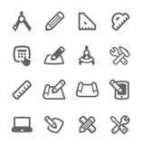 Icone di progettazione e del modello illustrazione di stock