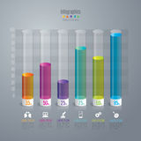 Icone di progettazione e di vendita di Infographic Fotografia Stock Libera da Diritti