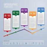 Icone di progettazione e di vendita di Infographic Fotografia Stock