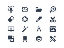 Icone di progettazione grafica Fotografie Stock