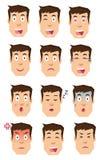 Icone di progettazione piana di emozioni umane Immagine Stock Libera da Diritti