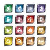 Icone di protezione dell'ambiente illustrazione di stock