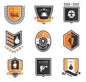Icone di pugilato Immagini Stock