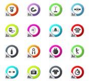 Icone di pugilato messe Fotografia Stock