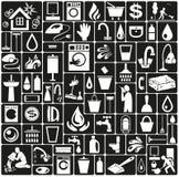 Icone di pulizia Immagini Stock