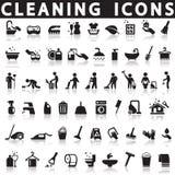 Icone di pulizia royalty illustrazione gratis