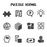 Icone di puzzle Fotografia Stock Libera da Diritti