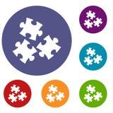 Icone di puzzle messe Fotografie Stock Libere da Diritti