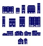 Icone di Real Estate Immagini Stock Libere da Diritti