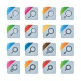 Icone di ricerca Immagine Stock