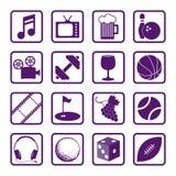 Icone di ricreazione illustrazione di stock