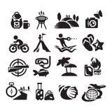 Icone di ricreazione. Illustrazione di vettore Fotografia Stock