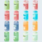 Icone di rifiuti vuoti e pieni illustrazione vettoriale