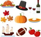 Icone di ringraziamento Fotografie Stock