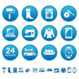 Icone di riparazione e di servizio Fotografia Stock