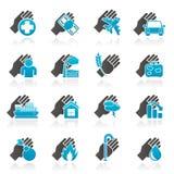 Icone di rischio e di assicurazione Fotografia Stock Libera da Diritti