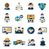 icone di riunione d'affari Immagine Stock Libera da Diritti