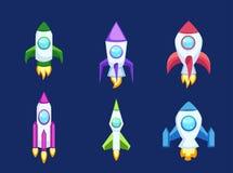 Icone di Rocket isolate Immagini Stock