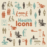 Icone di salute Fotografia Stock Libera da Diritti