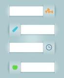 Icone di salute dei nastri di vettore di Infographic Fotografia Stock
