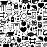 Icone di salute e di forma fisica Fotografia Stock