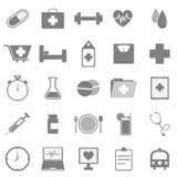 Icone di salute su fondo bianco Immagine Stock
