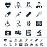 Icone di sanità Fotografie Stock Libere da Diritti