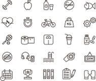 Icone di sanità & di forma fisica Fotografia Stock Libera da Diritti
