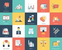 Icone di sanità e mediche royalty illustrazione gratis
