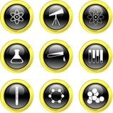 Icone di scienza illustrazione vettoriale