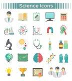 Icone di scienza Immagini Stock Libere da Diritti