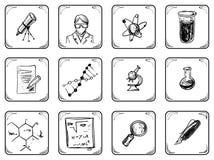 Icone di scienza Fotografia Stock Libera da Diritti
