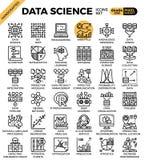Icone di scienza di dati illustrazione vettoriale